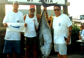 Over-Board held the Maryland state record yellowfin tuna at 187 pounds.